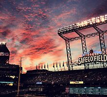 Sunset at Safeco by J-MePhotography
