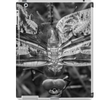 Black and White Dragonfly iPad Case/Skin