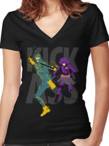 Kick Ass Women's Fitted V-Neck T-Shirt