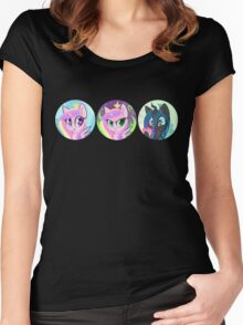 Royal Love Ponies Women's Fitted Scoop T-Shirt