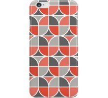 Split Circles Tulip Red iPhone Case/Skin