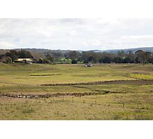 Rural View -Duns Creek, NSW Australia Photographic Print