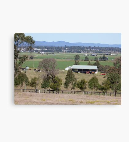 Rural View -Wallalong towards Morpeth, NSW Australia Canvas Print
