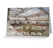 AC Milan  Greeting Card