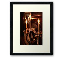 Piano By Candlelight Framed Print
