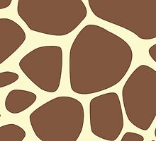 Animal Print (Giraffe Pattern) - Brown Yellow  by sitnica
