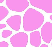 Animal Print (Giraffe Pattern) - Pink White  by sitnica
