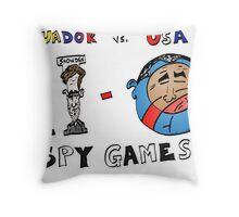 Obama Assange et Snowden caricature Throw Pillow