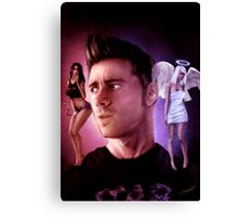 Hell Ain't a Bad Place - Self Portrait Canvas Print