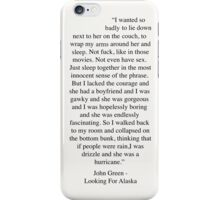 Looking For Alaska iPhone Case/Skin
