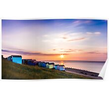 Whitstable Beach Huts.  Poster