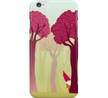 colorful forest with cute dwarf iPhone Case/Skin
