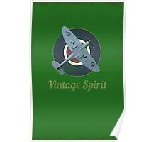 RAF Fighter Vintage Spirit Spitfire Logo Graphic Poster
