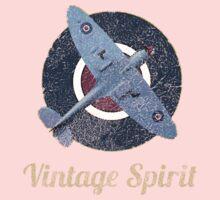 RAF Fighter Vintage Spirit Spitfire Logo Graphic One Piece - Long Sleeve