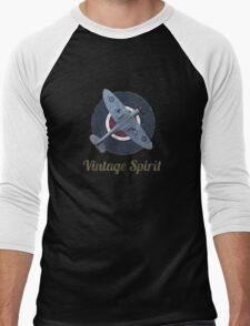 RAF Fighter Vintage Spirit Spitfire Logo Graphic T-Shirt