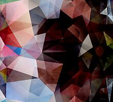 Abstract Vintage Triangles by perkinsdesigns