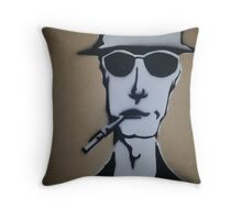 Fear and Loathing Stencil Throw Pillow