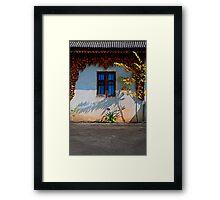 Blue Window Chiang Mai Framed Print