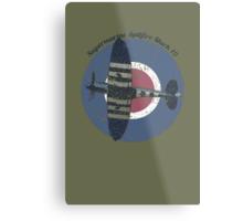 Vintage Fighter Plane Supermarine Spitfire Mark 19 Metal Print