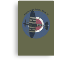 Vintage Fighter Plane Supermarine Spitfire Mark 19 Canvas Print
