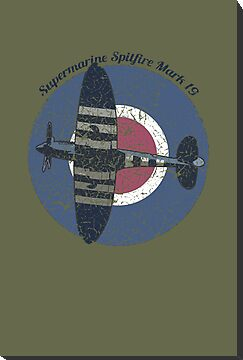Vintage Fighter Plane Supermarine Spitfire Mark 19 by VintageSpirit