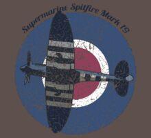 Vintage Fighter Plane Supermarine Spitfire Mark 19 Baby Tee