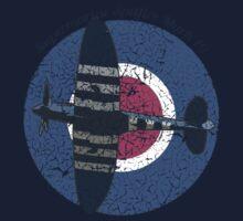 Vintage Fighter Plane Supermarine Spitfire Mark 19 One Piece - Short Sleeve