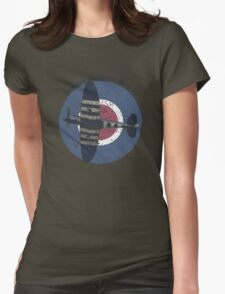 Vintage Fighter Plane Supermarine Spitfire Mark 19 Womens Fitted T-Shirt