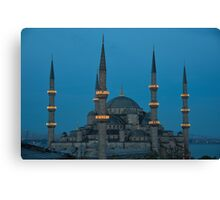 Blue Mosque at dusk Canvas Print