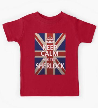 Keep Calm And Text Sherlock Kids Tee