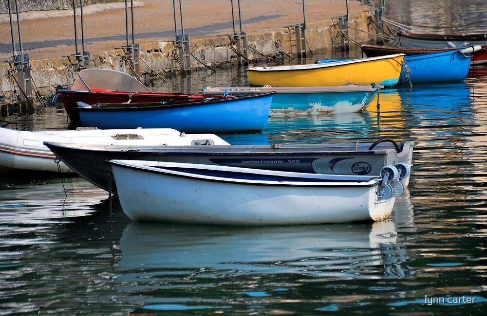 Small Boats at Lyme, Dorset UK by lynn carter