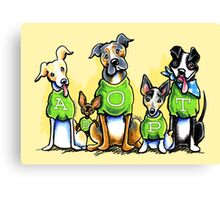 Think Adoption | Green Tee Shelter Dogs Canvas Print