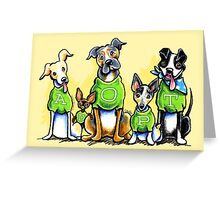 Think Adoption | Green Tee Shelter Dogs Greeting Card