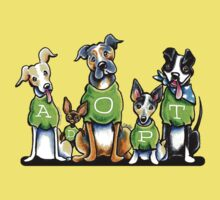 Think Adoption | Green Tee Shelter Dogs Kids Tee