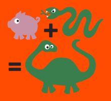Pig + Snake = Dinosaur by LaundryFactory