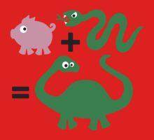 Pig + Snake = Dinosaur One Piece - Short Sleeve