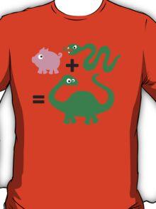 Pig + Snake = Dinosaur T-Shirt