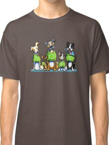 Think Adoption | Green Tee Shelter Dogs (Design for Dark) Classic T-Shirt
