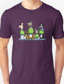 Think Adoption   Green Tee Shelter Dogs (Design for Dark) Unisex T-Shirt