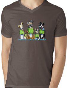 Think Adoption | Green Tee Shelter Dogs (Design for Dark) Mens V-Neck T-Shirt
