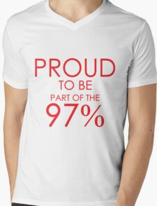 97% er Mens V-Neck T-Shirt