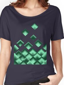 Green Squares Women's Relaxed Fit T-Shirt