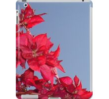 Pink Red Blooming Bougainvilleas Against A Blue Sky iPad Case/Skin