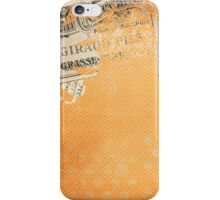 Vintage Worn Orange Diamonds Wallpaper iPhone Case/Skin