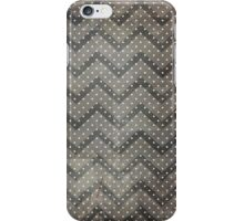Grungy Dark Chevron With Polka Dots iPhone Case/Skin