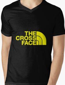The Cross Face Mens V-Neck T-Shirt