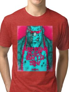 One Piece - Franky with quote Tri-blend T-Shirt