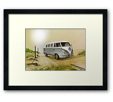 Behind the guarded walls I used to go Framed Print