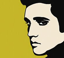 Elvis Presley 'The King of Rock and Roll' - Pop Art by CalumCJL