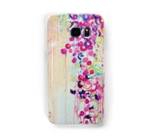 DANCE OF THE SAKURA - Pretty Cherry Blossoms Japanese Floral, Whimsical Abstract Acrylic Painting Samsung Galaxy Case/Skin